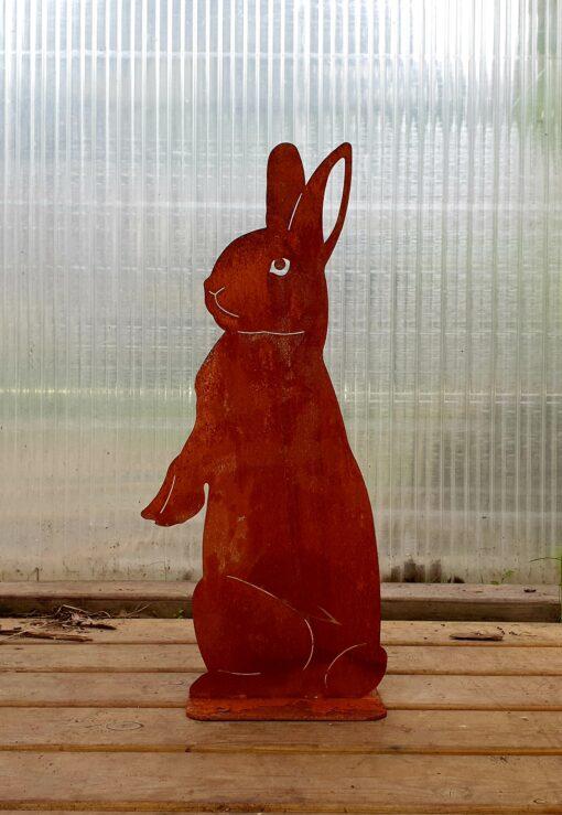 Kalnes Hagesenter*Hagemiljø, Figurer, Metall, Rust, Stående Hare